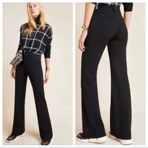 Anthropologie The Essential Trouser Pants Black 4